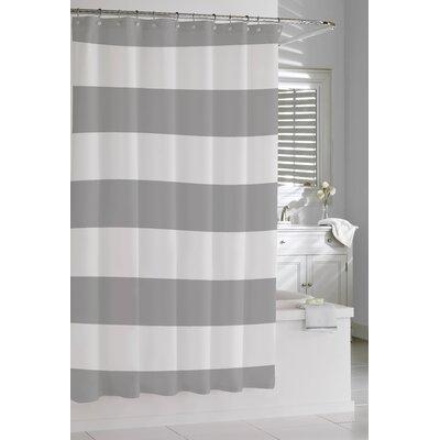 Prospero Stripes Cotton Shower Curtain Color: Grey / White