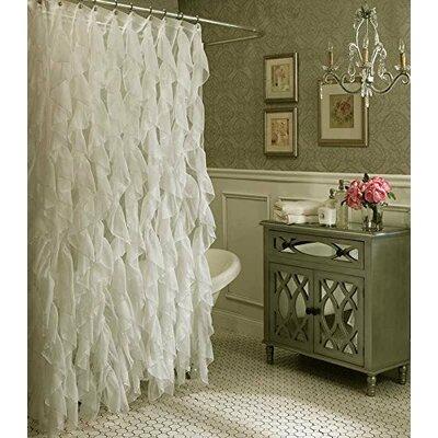 Schmitt Cascading Waterfall Shower Curtain Color: Ivory