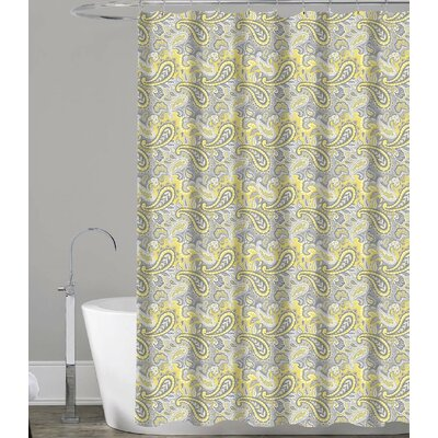 Royal Paisley Canvas Fabric Shower Curtain