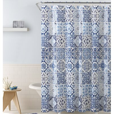 Royal  Shower Curtain Color: Blue
