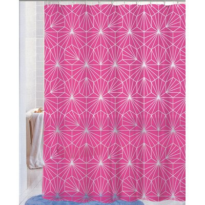 Royal Neon Telara�a PEVA Non-Toxic Shower Curtain Color: Fuchsia