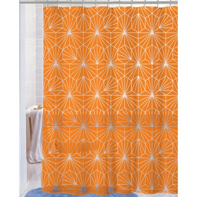 Royal Neon Telara�a PEVA Non-Toxic Shower Curtain Color: Orange