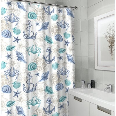 Royal Fabric Shower Curtain Color: Blue