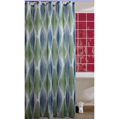 Rockport Ombre Watercolor Diamond Shower Curtain