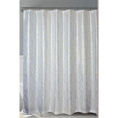 Norwood Shower Curtain Color: White/Gold