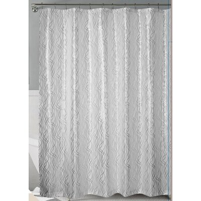 Norwood Shower Curtain Color: White/Silver