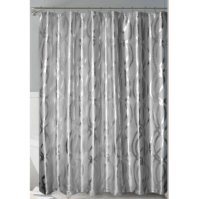 Oakley Metallic Sparks Shower Curtain Color: Gray/Silver