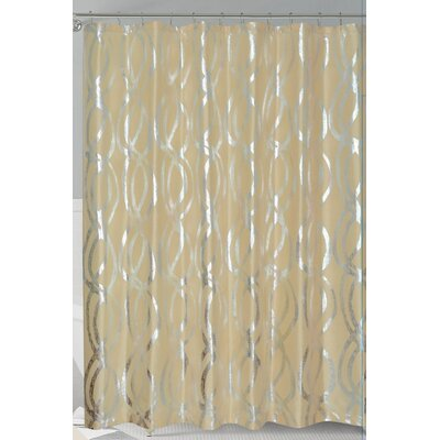 Oakley Metallic Sparks Shower Curtain Color: Gold/Silver