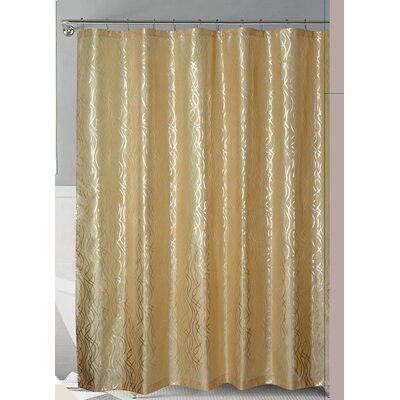 Norwood Shower Curtain Color: Gold/Silver