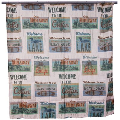 Chase Cabin Life Shower Curtain