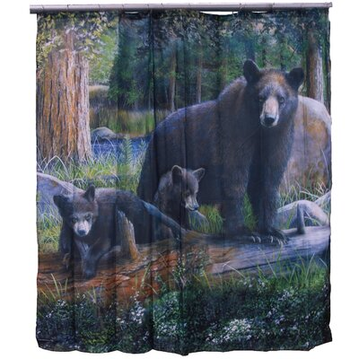 Chase Mama Bear and Cubs Shower Curtain