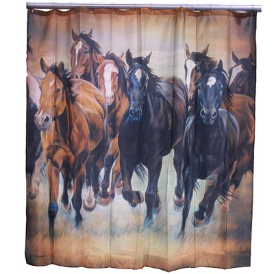 Chase Wild Mustangs Shower Curtain