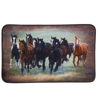 Chase Wild Mustangs Bath Rug