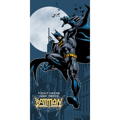 Royal Plush Batman Crime Fighter Beach Towel