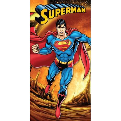 Royal Plush Superman Firey Planet Beach Towel