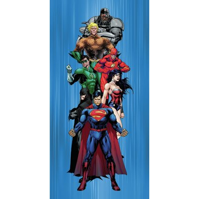 Royal Plush Justice League Ready for Action Beach Towel