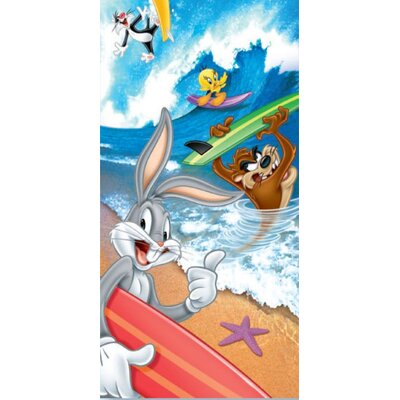 Royal Plush Looney Toons Surf Beach Towel