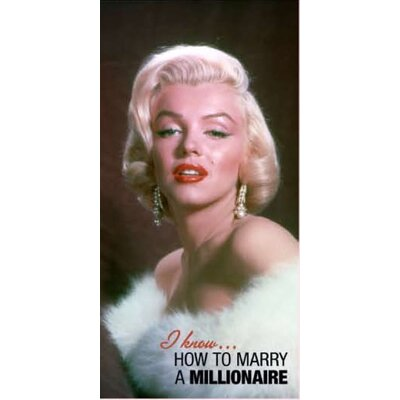 Royal Plush Marilyn Monrow How to Marry a Millionaire Beach Towel