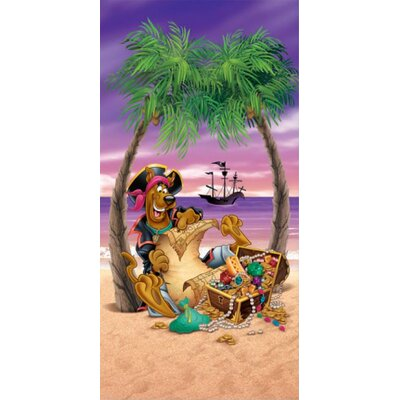 Royal Plush Scooby Pirate Beach Towel