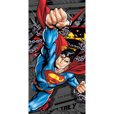 Royal Plush Superman Daily News Beach Towel