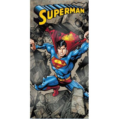 Royal Plush Superman Rocks Beach Towel