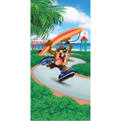 Royal Plush Looney Toons Taz Surf Beach Towel