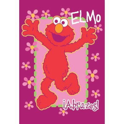 Royal Plush Extra Heavy A Hug From Elmo Blanket