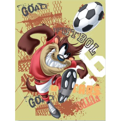 Royal Plush Extra Heavy Looney Toons tag Playing Soccer Blanket