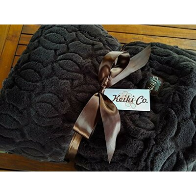 Elnora Moscow Couture Throw Color: Espresso
