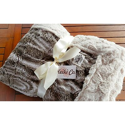 Elnora Mocha Marble Couture Throw
