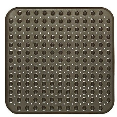 Stall Bubble Look Vinyl Shower Mat Color: Black