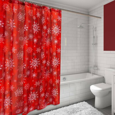 Holiday Snow Resin Shower Curtain Set