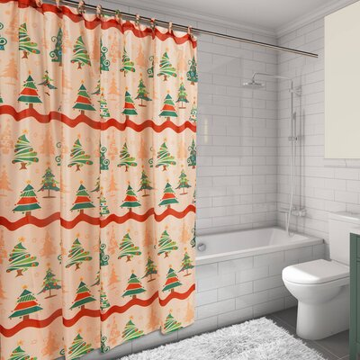 O Christmas Tree Resin Shower Curtain Set