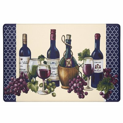 Constance French Vinyard Extra Heavy Anti Fatigue Kitchen Mat