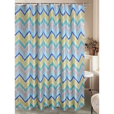 Bozarth Chevron Vinyl Shower Curtain