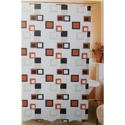 Kaeden Abstract Blocks Vinyl Shower Curtain