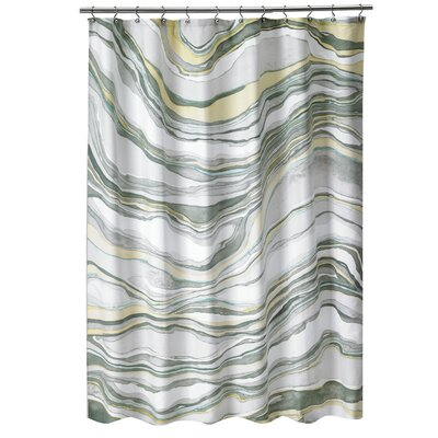 Noelia Hypnotic Marble Fabric Shower Curtain