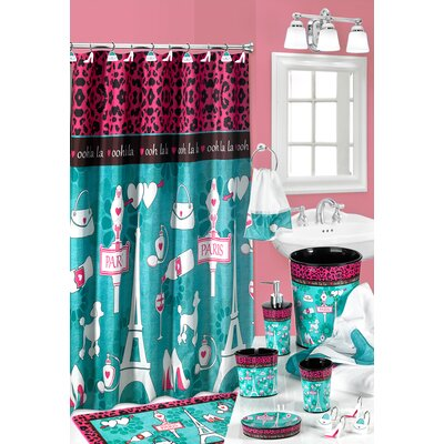 Charest Ooh La La Paris Glamour Fabric Shower Curtain