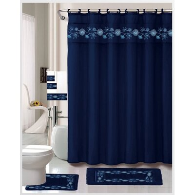 Bensen Embroidered Shower Curtain Set