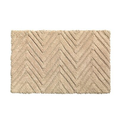 Chevron Weave 100% Cotton Bath Rug Color: Dark Linen