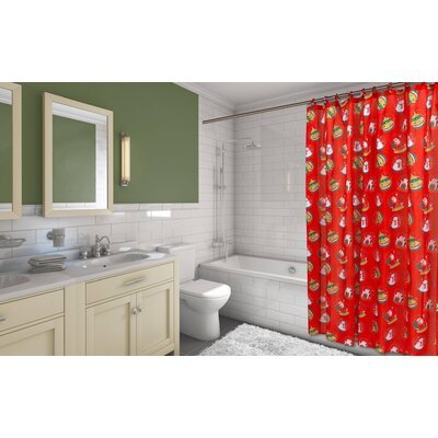 Santas Globe Resin Shower Curtain Set