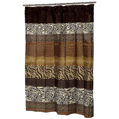 Colyn Faux Fur-Trimmed Shower Curtain