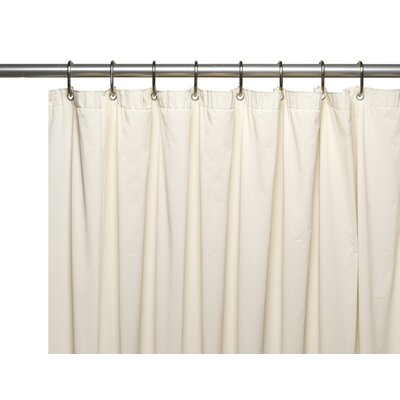 Special Sized 10 Gauge Vinyl Shower curtain/ Liner Size: 72 H x 36 W x 0.1 D, Color: Bone