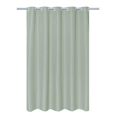 Waffle Weave Vinyl Shower Curtain Color: Sage