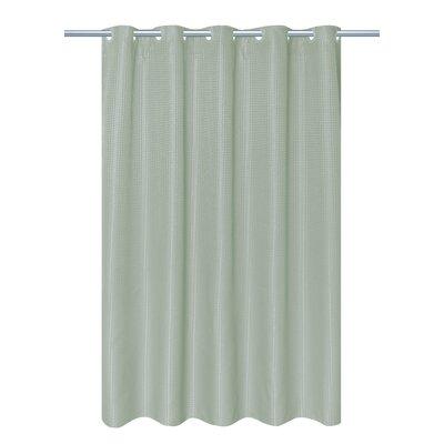 Mahler Waffle Weave Vinyl Shower Curtain Color: Sage