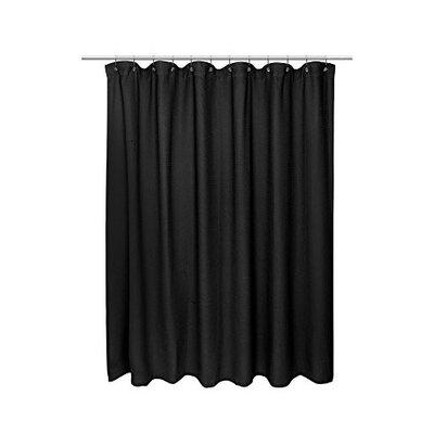 Waffle Weave 100% Cotton Shower Curtain Size: 72 H x 72 W, Color: Black