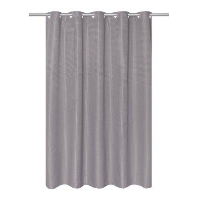Mahler Waffle Weave Vinyl Shower Curtain Color: Silver Filigree