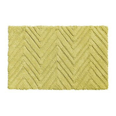 Chevron Weave 100% Cotton Bath Rug Color: Citron