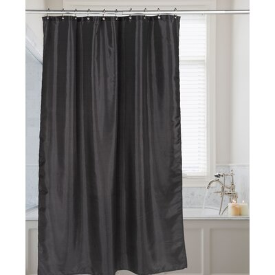 Easton Shimmer Faux Silk Shower Curtain Color: Black