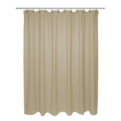 Chevron Weave 100% Cotton Shower Curtain Size: 84 H x 72 W, Color: Dark Linen